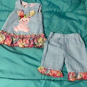 Bonnie Baby Baby girls Easter outfit NWOT